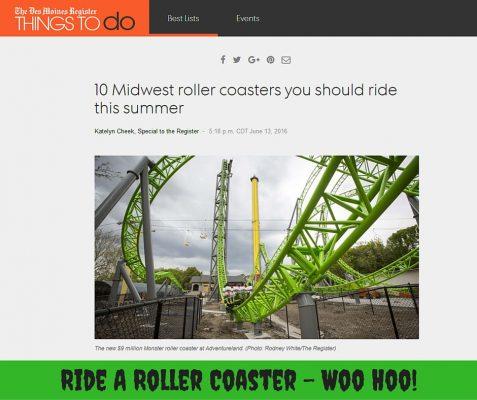 Ride A Roller Coaster - Woo Hoo!
